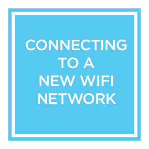 Connecting your Evoz Monitor to a New WiFi Network